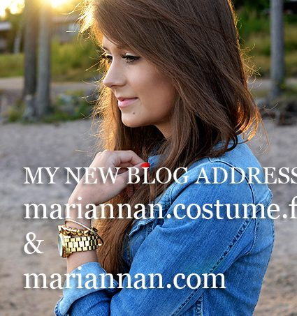 My blog moving to mariannan.costume.fi!