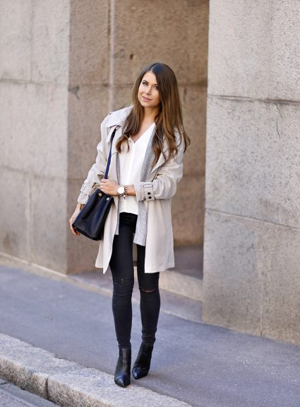 flowy trench coat