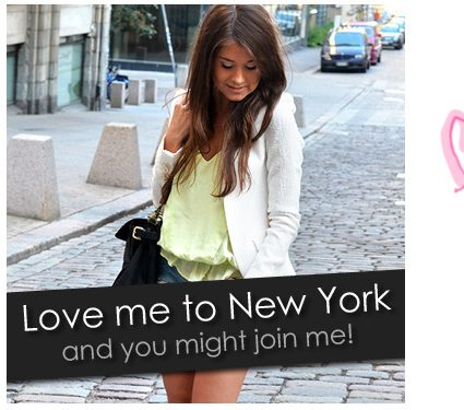 Love me to New York, and you might join me!!!