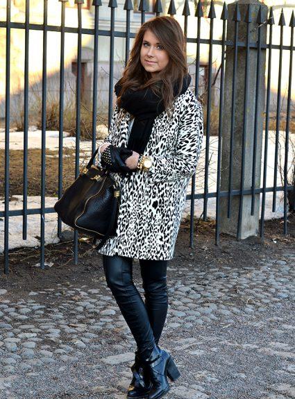 leo jacket & black leather